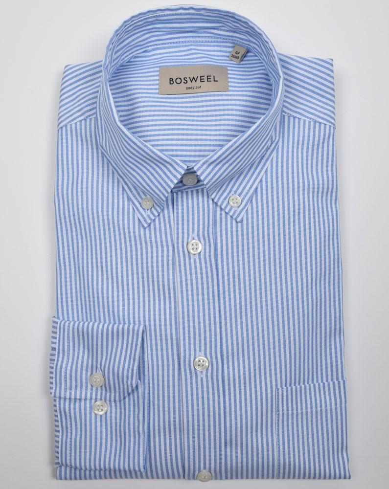 a711949f Bosweel herreskjorter. Classic fit. Oxford. Blå strib.