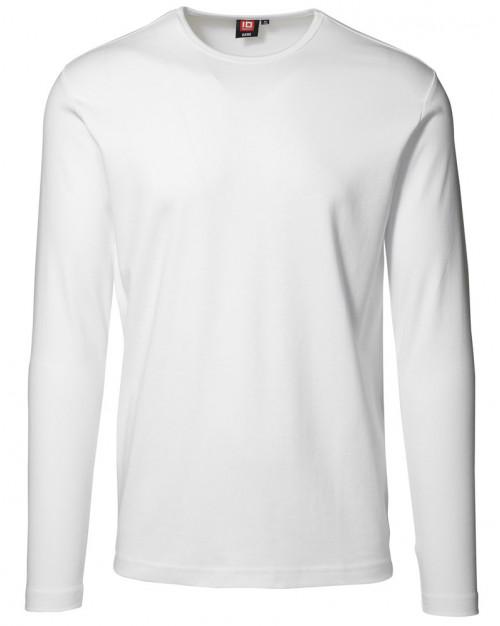 ID langærmet t shirt. Hvid.
