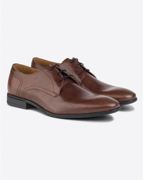 Sort læder kjole sko til mænd