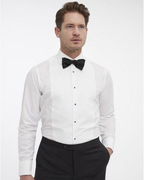 Van Gils smoking skjorte. Hvid.