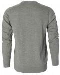 berkeley v-hals pullover grå