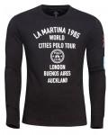 Langærmet t-shirts til mænd fra la martina