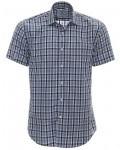 mr-marten-herre skjorte-kortaermet-ternet-blaa1