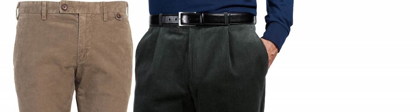 Fløjlsbukser til herre