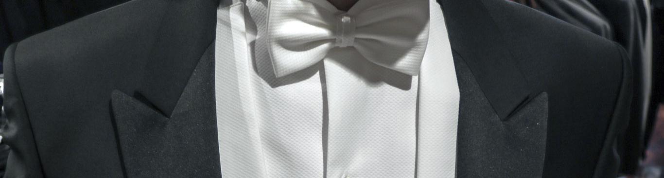 hvidt festtøj