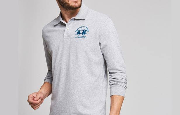angærmet polo shirts til mænd